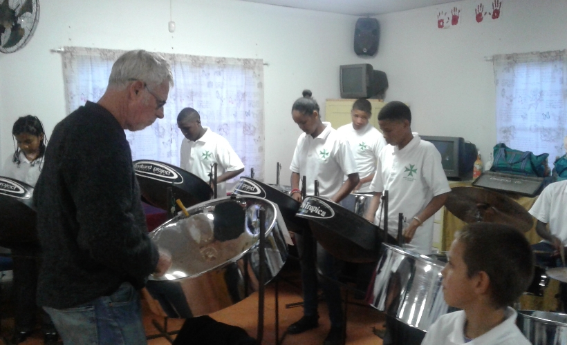 Elkana Steelband playing at our AGM 2017